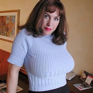 sweaters in Mature boobs tight